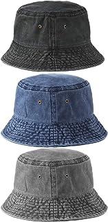 3 قطع قبعة دلو من الدنيم للجنسين قبعة الشمس واسعة حافة صياد السمك قبعة للرجال والنساء والمراهقين في الهواء الطلق