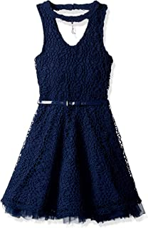 فستان Beautees للفتيات برقبة على شكل حرف V من الدانتيل