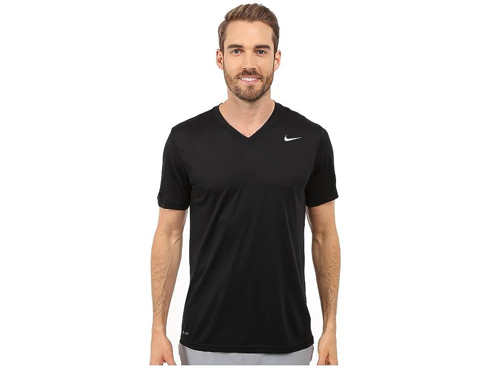 Nike Legend 2.0 Short Sleeve V-Neck Tee (Black/Black/Matte Silver) Men