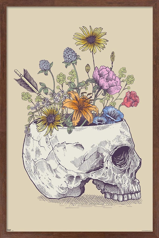 Trends International Rachel Caldwell Max 70% OFF - Wall Skull Popular popular Flower Poster