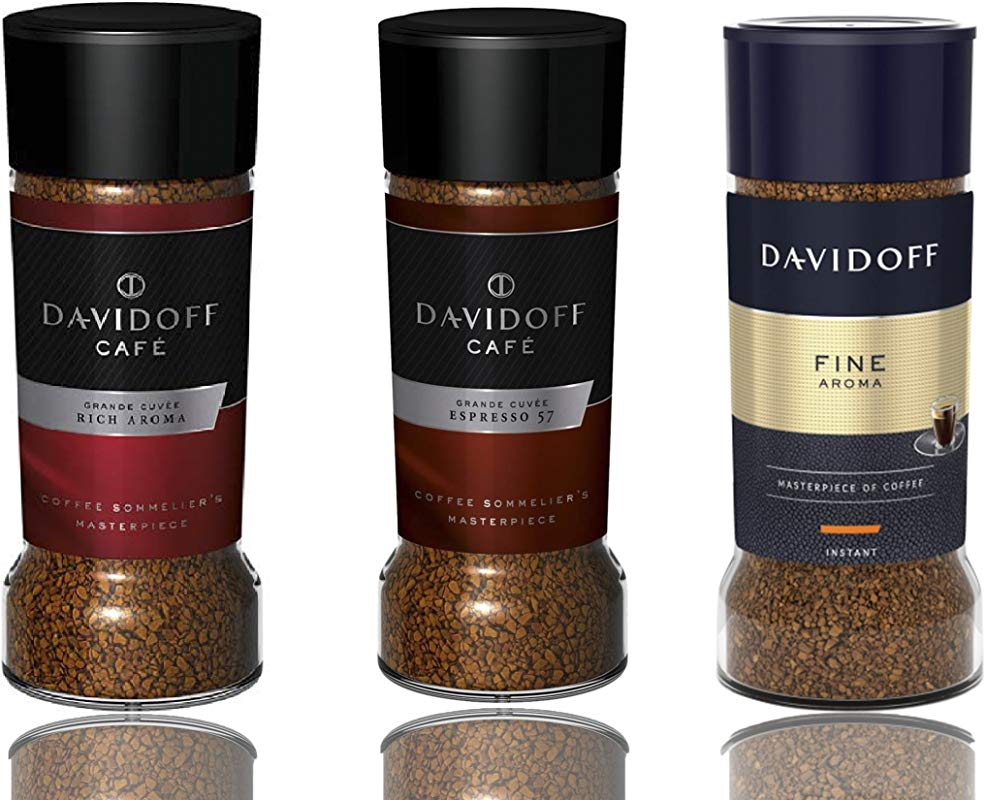 Davidoff Caf Rich Aroma Fine Aroma Espresso 57 Instant Coffee 3 Jars Bundle 3 5oz 100g Each