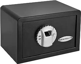 BARSKA AX11620 Biometric Fingerprint Mini Security Home Safe Box 0.29 Cubic Ft
