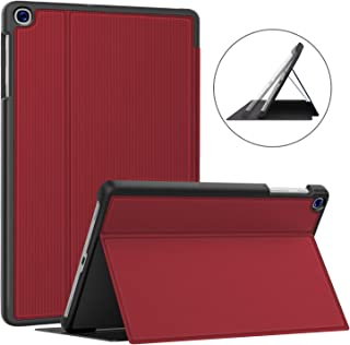 Soke Galaxy Tab A 10.1 Case 2019, Premium Shock Proof Stand Folio Case,Multi- Viewing Angles, Soft TPU Back Cover for Samsung Galaxy Tab A 10.1 inch Tablet [SM-T510/T515],Red