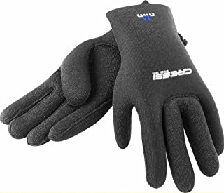 HIGH STRETCH GLOVES BLACK 3.5mm BLUE LOGO S