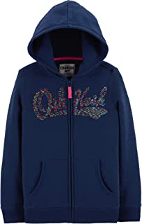 OshKosh B'Gosh Girls' Full Zip Logo Hoodie