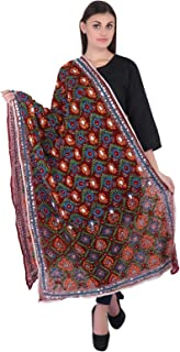 Indian Traditional Duppata Embroidered Sacrves Stole Dupatta Pakistani Geogette