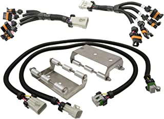 Michigan Motorsports Coil Pack Relocation Bracket Kit with Stainless Steel Brackets and Extension Harness For LS1 LS6