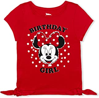 Disney Girl's Minnie Mouse Birthday Blouse Tee Shirt