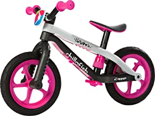 Chillafish BMXie-RS: BMX Balance Bike with Airless Rubberskin Tires, Pink (Killer Queen)