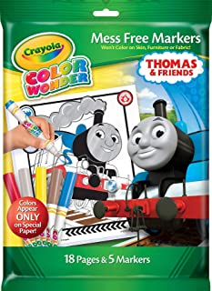 Crayola Color Wonder, Thomas and Friends Mess Free Coloring Pages & Markers, Gift for Ages 3, 4, 5, 6