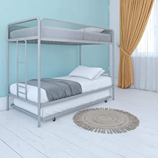 DHP Triple Metal Bunk Bed Frame, Gray, Twin