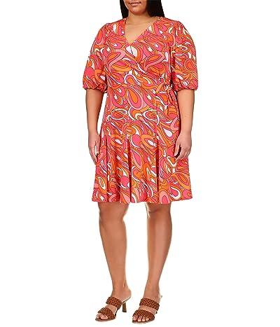 MICHAEL Michael Kors Plus Size Faux Wrap Mini Dress