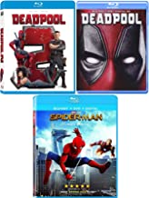 Spider Dead Marvel pool Triple Super Hero Movies Deadpool with Gag Reel (Blu-Ray) Part 2 + Homecoming Spider-Man Movie 3 Pack Comic