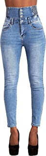 Jeans Dames Push-up stretch skinny jeans met hoge taille