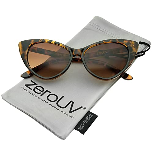 1ce2e11d14 zeroUV - Women s Retro Oversized High Point Cat Eye Sunglasses 54mm