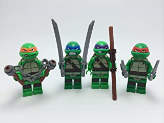 LEGO Teenage Mutant Ninja Turtles TMNT Complete Set of 4 Minifigures: Michelangelo, Donatello, Leonardo, and Raphael