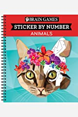 Brain Games - Sticker by Number: Animals (28 Images to Sticker) Spiral-bound
