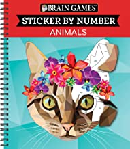 Brain Games – Sticker by Number: Animals (Geometric Stickers) PDF