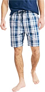 Nautica Men's Soft Woven 100% Cotton Elastic Waistband Sleep Pajama Shorts, Light Haze, X-Large