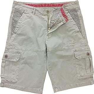 Gudan Casual Men's Cargo Shorts Multi Pockets Cotton Short Pants Slim Fit