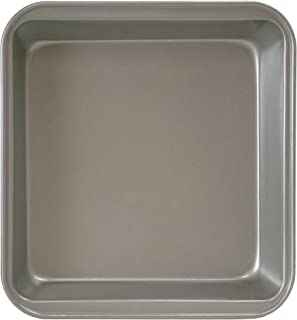 """Ecolution Square Cake Baking Pan Bakeins Cookware Non-Stick Heavy Duty Carbon Steel, 9"""" x 9"""" x 2"""", Gray"""