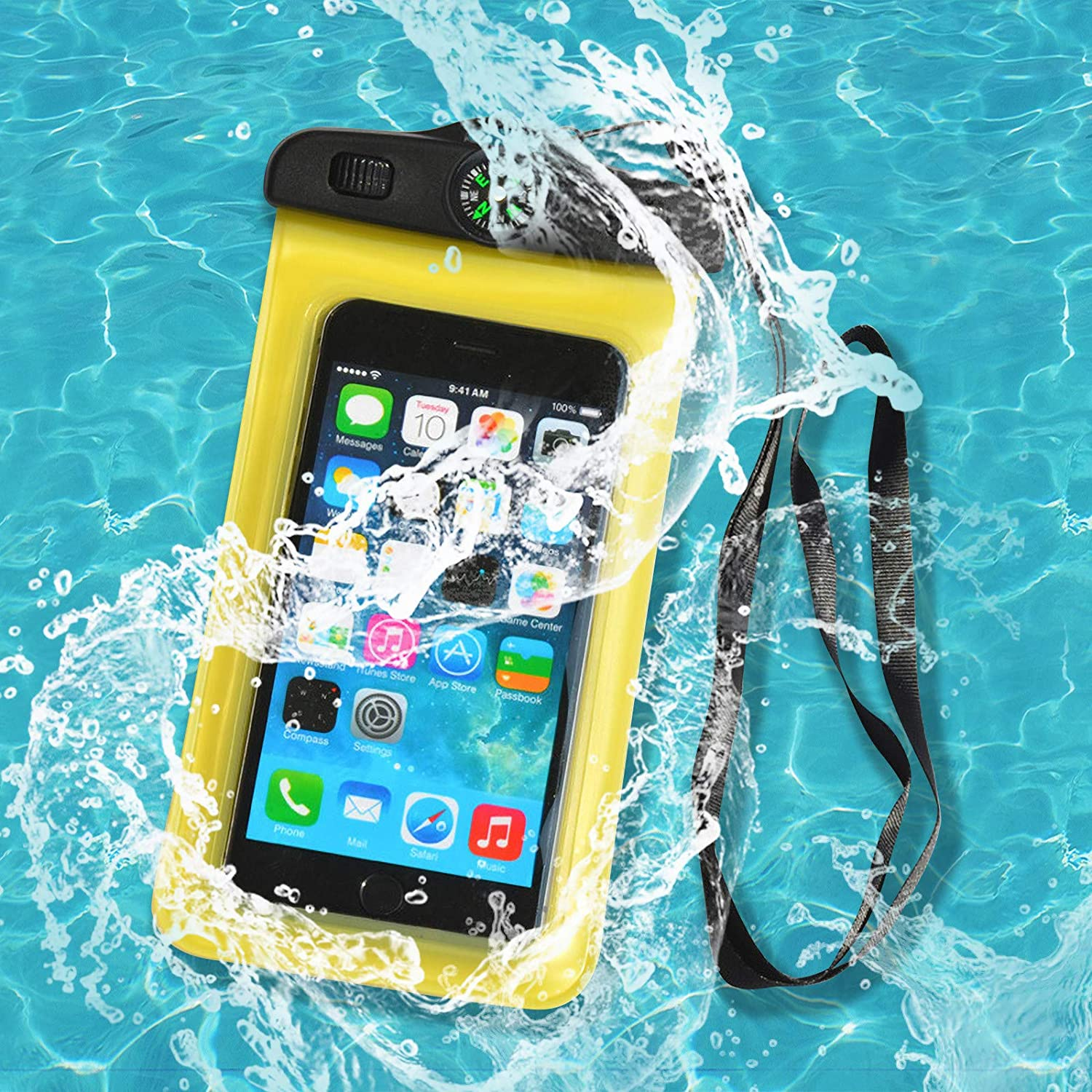 Waterproof Phone Case,Cellphone Dry Bag Case for iPhone 12/11/Xs/XS Max/XR/X, iPhone 8/8 Plus/7/7 Plus/6/6s, Samsung Galaxy S9/S8/S7,and Other Phones Up to 6.5''