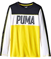 Puma Kids - Block Long Sleeve Top (Big Kids)