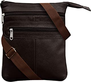 ABYS Genuine Leather Coffee Brown Shoulder Bag Sling & Cross-Body Bag||Women Handbags||Messenger Bag For Men And Women