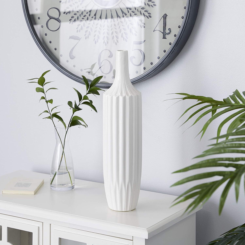 Deco 79 White 2021 Ceramic Modern x 19 5 Medium Max 50% OFF Vase