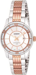 Casio Womens Quartz Watch, Analog Display and Stainless Steel Strap LTP-1358RG-7