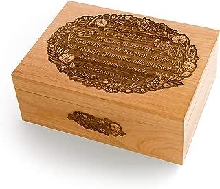 Love Never Ends Wood Laser Cut Keepsake Box (Wedding/Anniversary Gift/Baby Shower/Heirloom/Decorative/Handmade)