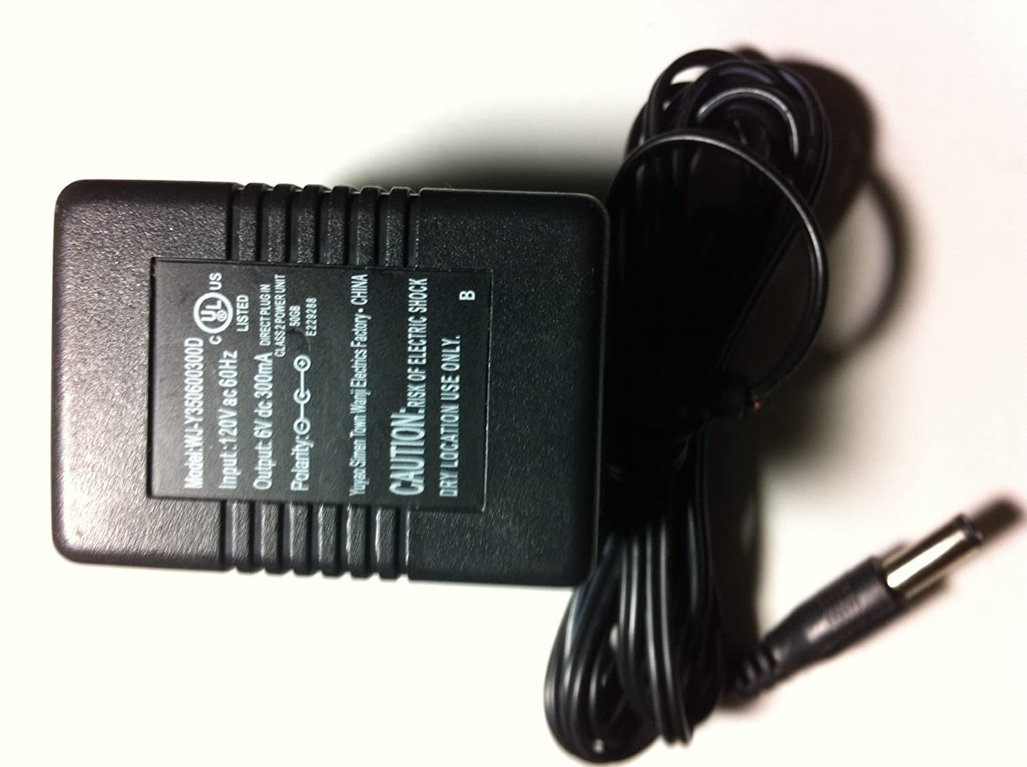 Yuyao Simen AC Adapter Power Supply 6V dc 300mA Model: WJ-Y350600300D