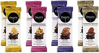 Choupette Dark Chocolate Bar Gift Set Variety Pack (8 Bars) - Dark Chocolate Pretzel, Dark Chocolate Popcorn, Dark Chocolate Maple Crunch, Dark Chocolate Potato Chips - Valentines Mothers Day Gift
