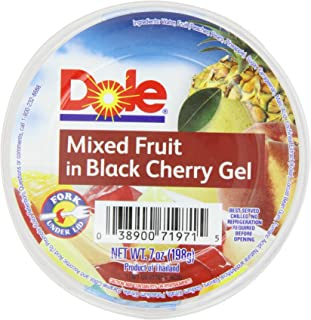 Dole Mixed Fruit In Black Cherry Gel, 7-Ounce Cups (Pack of 12)