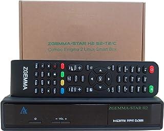 comprar comparacion ZGEMMA STAR H2 Combo Receptor De TV FTA Linux OS DVB-S2+ DVB-T2/C Dos Sintonizadores/Decodificador