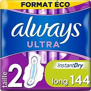 Always Ultra - Serviettes hygiéniques, Long Plus, Format éco x144
