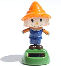 Scarecrow in a Blue Outfit Solar Toy Autumn Fall Halloween Decoration ~ We pay your sales tax