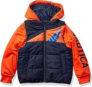 Nautica Boys' Hybrid Fleece Quilted Jacket