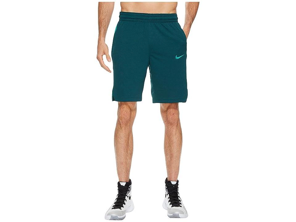 Nike Elite Stripe Basketball Short (Dark Atomic Teal/Neptune Green) Men