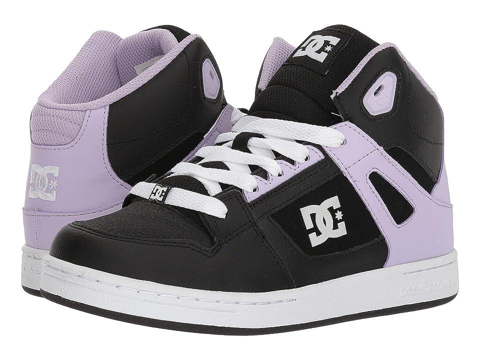 DC Kids Pure High-Top (Little Kid/Big Kid) (Black/Lavender) Girls Shoes