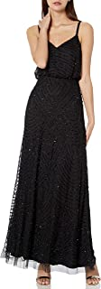 Adrianna Papell Women's Long Beaded Blouson Gown