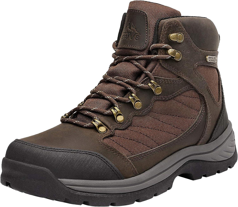 NORTIV 8 Mens Waterproof Hiking Boots Mid Ankle Hiker Mountaineering Trekking Work Boots