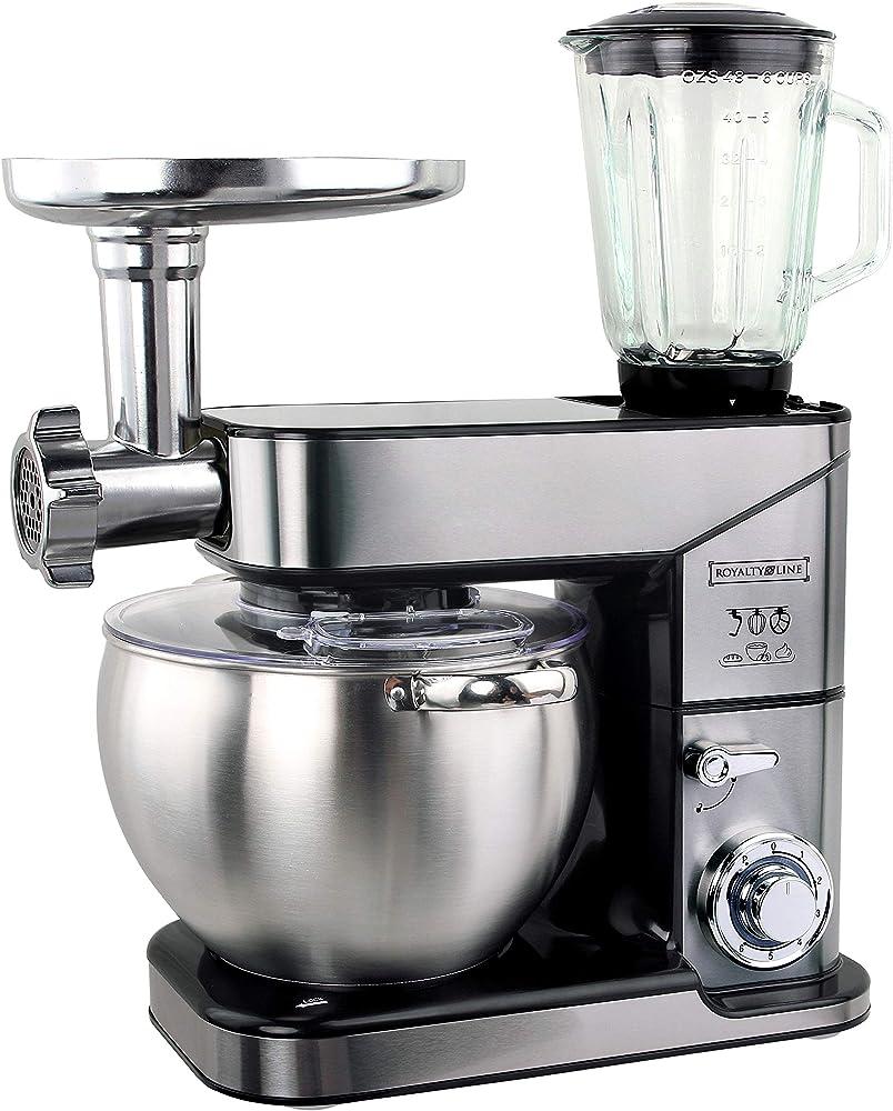 Royalty line, robot da cucina 3 in 1, impastatrice, mixer, con tritacarne e frullatore. PKM-2500