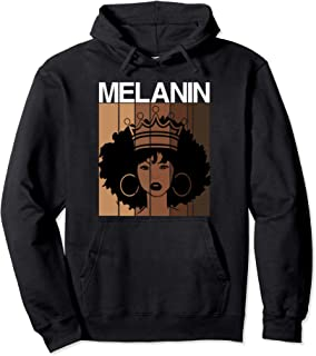 Melanin Queen Shades African American Strong Black Afro Pullover Hoodie