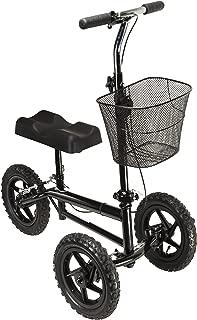 Azoob All Terrain Steerable Knee Walker Knee Scooter Crutches Alternative Super Duty 12