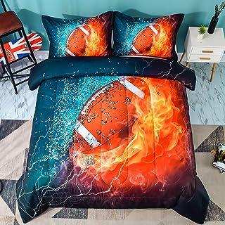 Andency Football Comforter Set Twin(66x90 Inch), 2...