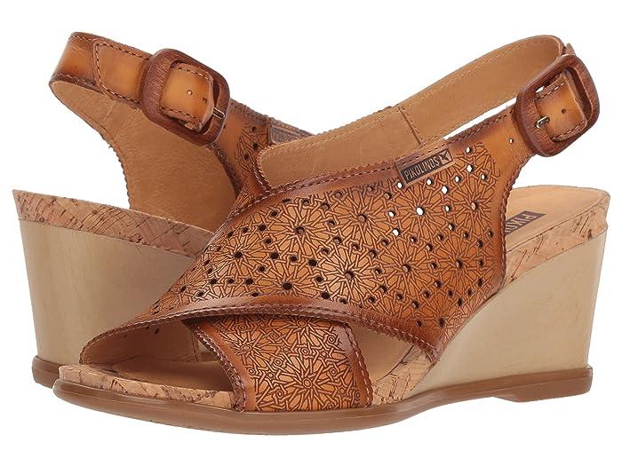 70s Shoes, Platforms, Boots, Heels Pikolinos Vigo W3R-1596 Lava Womens Wedge Shoes $174.95 AT vintagedancer.com