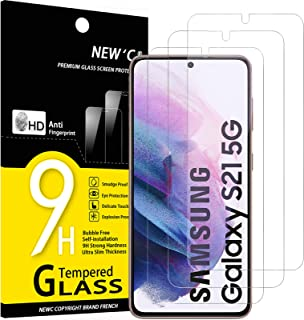 "NEW'C 3-Stuks, ScreenProtector voor Samsung Galaxy S21 5G (6.2""), Gehard Glass Schermbeschermer Film 0.23 mm ultra transpa..."