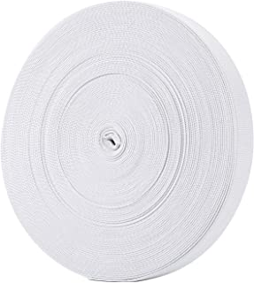 Hicarer 21.5 Yards White Sewing Elastic Bands Elastic Spools (3/ 4 Inch)