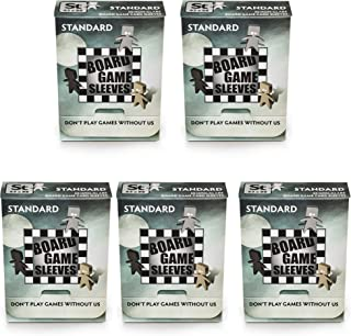 5 Packs Arcane Tinmen Non-Glare Board Game Sleeves 50 ct Standard Size Card Sleeves Value Bundle!